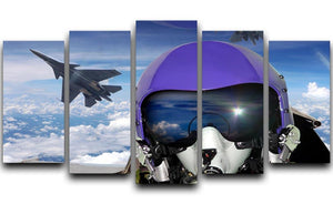 Jet fighter pilot cockpit view 5 Split Panel Canvas  - Canvas Art Rocks - 1