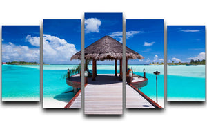 Jetty with amazing ocean 5 Split Panel Canvas - Canvas Art Rocks - 1