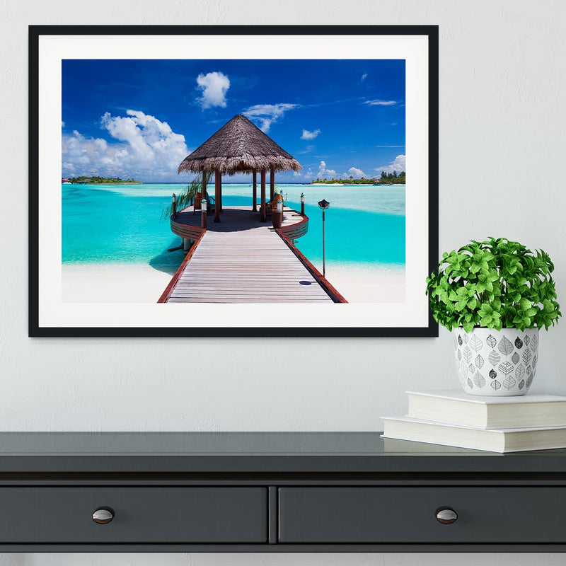 Jetty with amazing ocean Framed Print - Canvas Art Rocks - 1