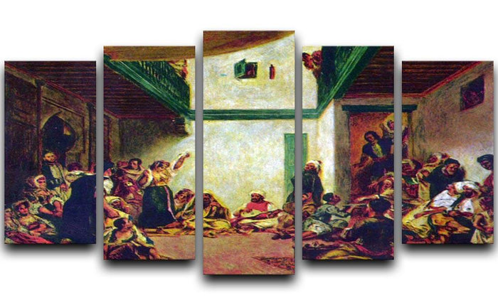 Jewish wedding after Delacroix by Renoir 5 Split Panel Canvas