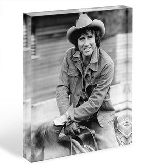 Jim Dale on horseback Acrylic Block - Canvas Art Rocks - 1