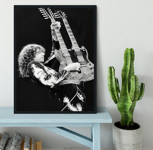 Jimmy Page of Led Zeppelin Framed Print - Canvas Art Rocks - 2
