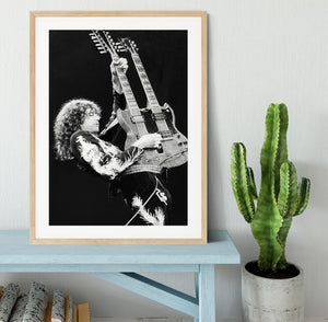 Jimmy Page of Led Zeppelin Framed Print - Canvas Art Rocks - 3