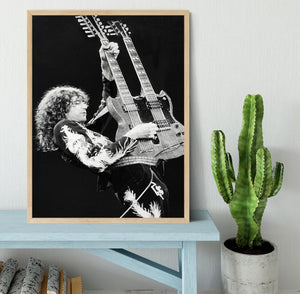 Jimmy Page of Led Zeppelin Framed Print - Canvas Art Rocks - 4