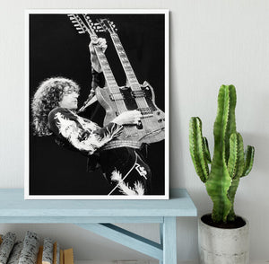 Jimmy Page of Led Zeppelin Framed Print - Canvas Art Rocks -6