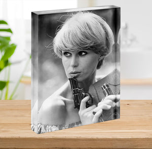 Joanna Lumley Acrylic Block - Canvas Art Rocks - 2