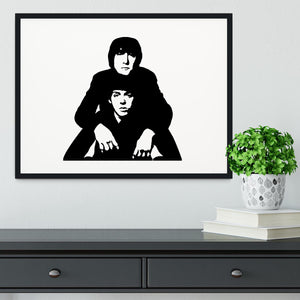 John Lennon Paul McCartney Framed Print - Canvas Art Rocks - 1