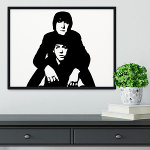 John Lennon Paul McCartney Framed Print - Canvas Art Rocks - 2