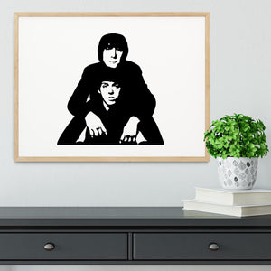 John Lennon Paul McCartney Framed Print - Canvas Art Rocks - 3