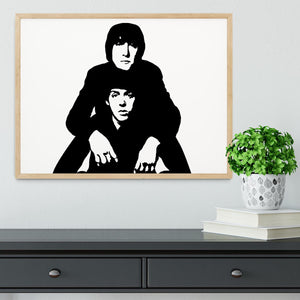 John Lennon Paul McCartney Framed Print - Canvas Art Rocks - 4