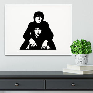 John Lennon Paul McCartney Framed Print - Canvas Art Rocks - 5