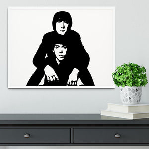 John Lennon Paul McCartney Framed Print - Canvas Art Rocks -6