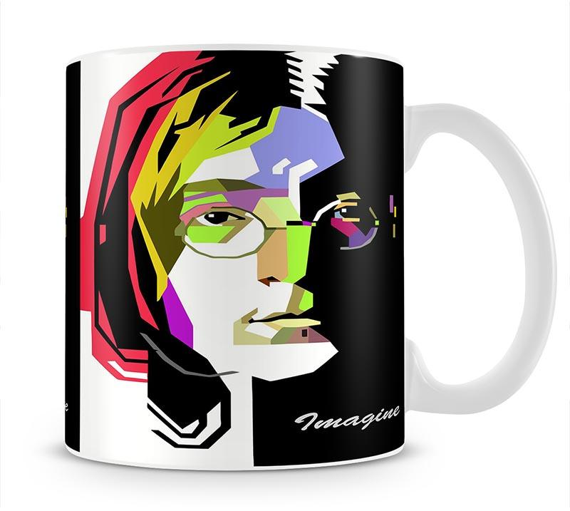 John Lennon Pop Art Mug - Canvas Art Rocks - 1