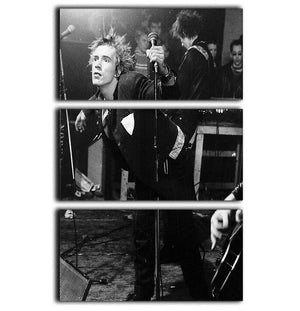 John Lydon Sex Pistols 3 Split Panel Canvas Print - Canvas Art Rocks - 1