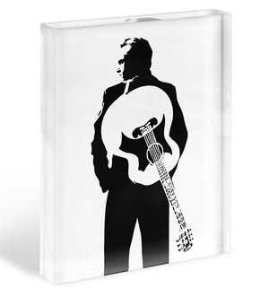 Johnny Cash Guitar Acrylic Block - Canvas Art Rocks - 1