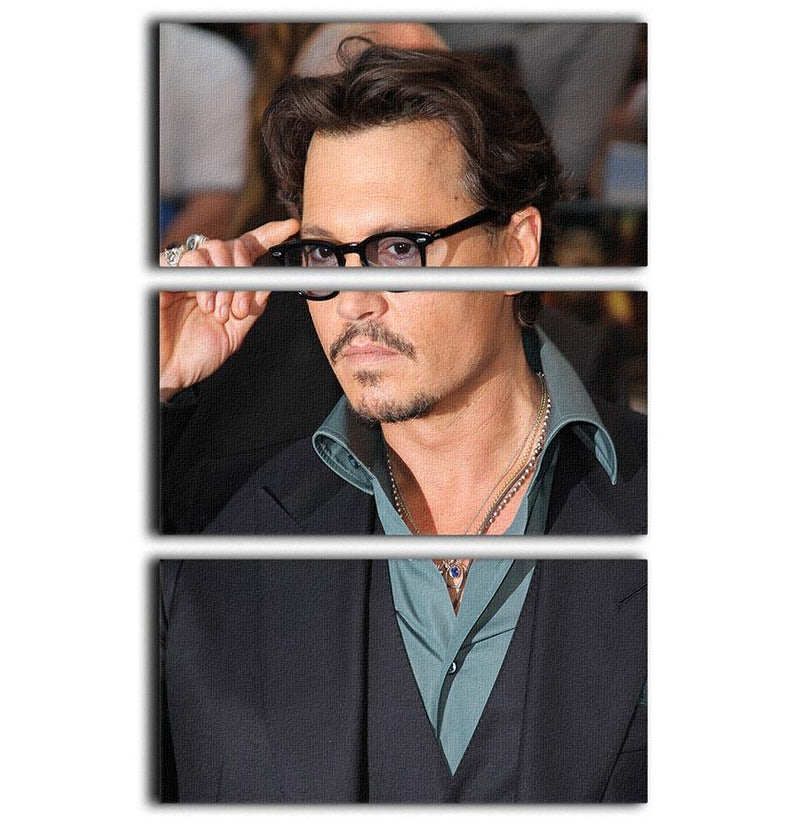 Johnny Depp 3 Split Panel Canvas Print - Canvas Art Rocks - 1