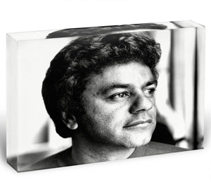 Johnny Mathis Acrylic Block - Canvas Art Rocks - 1