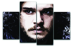 Jon Snow 4 Split Panel Canvas  - Canvas Art Rocks - 1