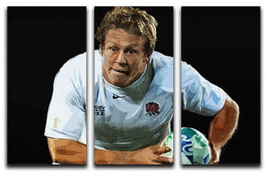 Jonny Wilkinson Running 3 Split Panel Canvas Print - Canvas Art Rocks - 1