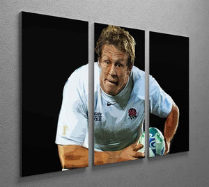 Jonny Wilkinson Running 3 Split Panel Canvas Print - Canvas Art Rocks - 2