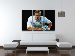 Jonny Wilkinson Running 3 Split Panel Canvas Print - Canvas Art Rocks - 3