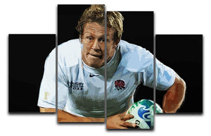 Jonny Wilkinson Running 4 Split Panel Canvas  - Canvas Art Rocks - 1