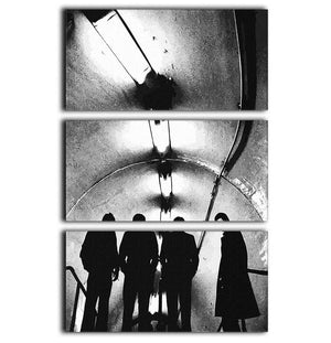 Joy Division Subway 3 Split Panel Canvas Print - Canvas Art Rocks - 1