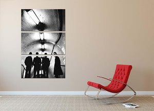 Joy Division Subway 3 Split Panel Canvas Print - Canvas Art Rocks - 2
