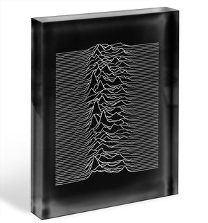 Joy Division Unknown Pleasures Acrylic Block - Canvas Art Rocks - 1