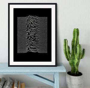 Joy Division Unknown Pleasures Framed Print - Canvas Art Rocks - 1