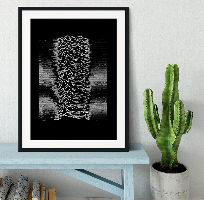 Joy Division Unknown Pleasures Framed Print