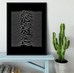 Joy Division Unknown Pleasures Framed Print - Canvas Art Rocks - 2