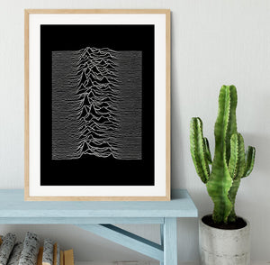 Joy Division Unknown Pleasures Framed Print - Canvas Art Rocks - 3