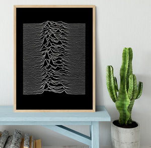 Joy Division Unknown Pleasures Framed Print - Canvas Art Rocks - 4