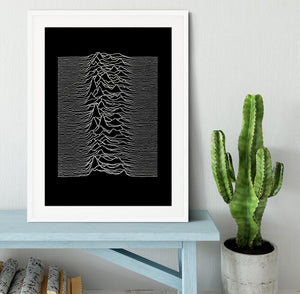 Joy Division Unknown Pleasures Framed Print - Canvas Art Rocks - 5
