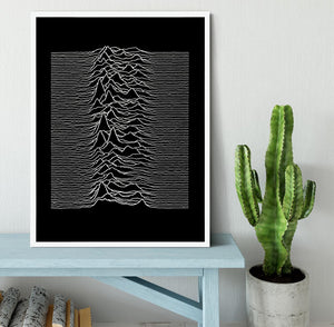 Joy Division Unknown Pleasures Framed Print - Canvas Art Rocks -6