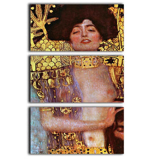 Judith by Klimt 3 Split Panel Canvas Print - Canvas Art Rocks - 1