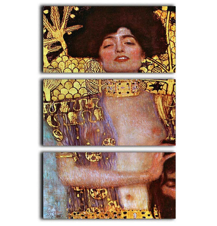 Judith by Klimt 3 Split Panel Canvas Print