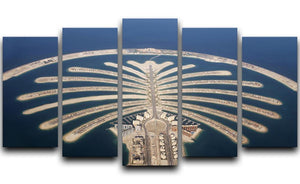 Jumeirah Palm Island Development 5 Split Panel Canvas  - Canvas Art Rocks - 1
