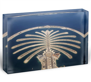 Jumeirah Palm Island Development Acrylic Block - Canvas Art Rocks - 1