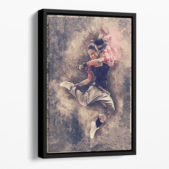 Jump Painting Floating Framed Canvas