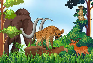 Jungle Animals Wall Mural Wallpaper - Canvas Art Rocks - 1