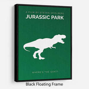 Jurassic Park Wheres The Goat Minimal Movie Floating Frame Canvas - Canvas Art Rocks - 1