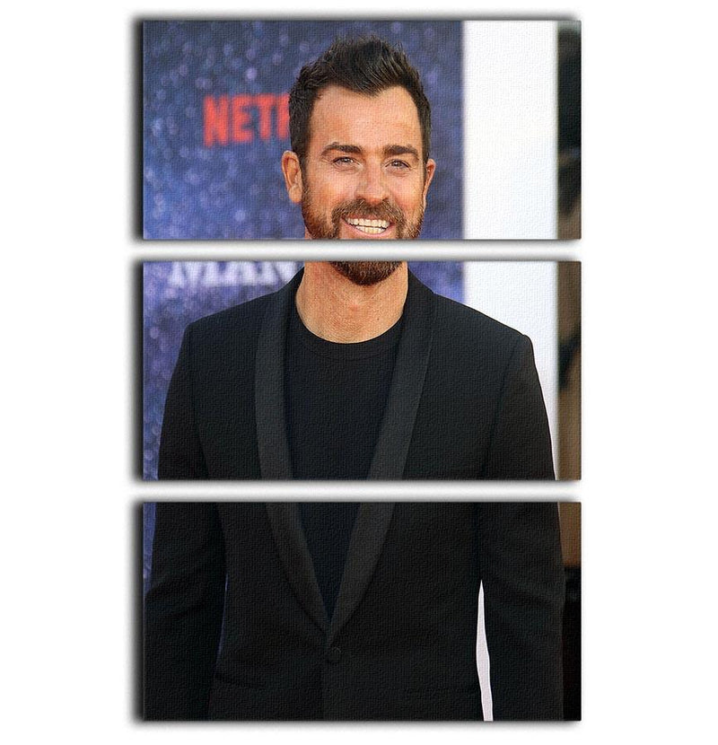 Justin Theroux 3 Split Panel Canvas Print - Canvas Art Rocks - 1