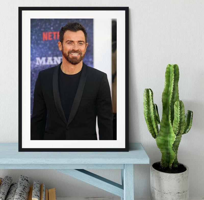 Justin Theroux Framed Print - Canvas Art Rocks - 1