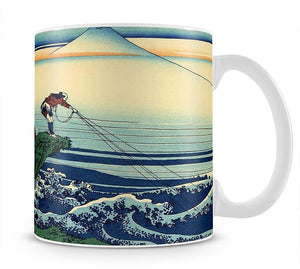 Kajikazawa in Kai province by Hokusai Mug - Canvas Art Rocks - 1