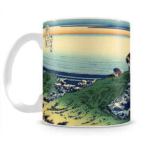 Kajikazawa in Kai province by Hokusai Mug - Canvas Art Rocks - 2