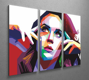 Katy Perry Pop Art 3 Split Panel Canvas Print - Canvas Art Rocks - 2