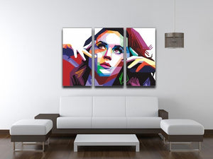 Katy Perry Pop Art 3 Split Panel Canvas Print - Canvas Art Rocks - 3