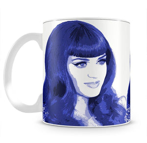 Katy Perry in blue pop art Mug - Canvas Art Rocks - 2